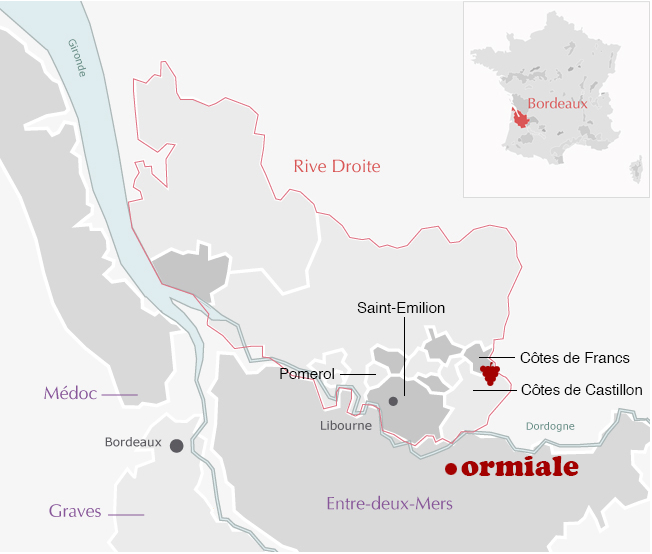 Carte Ormiale Bordeaux
