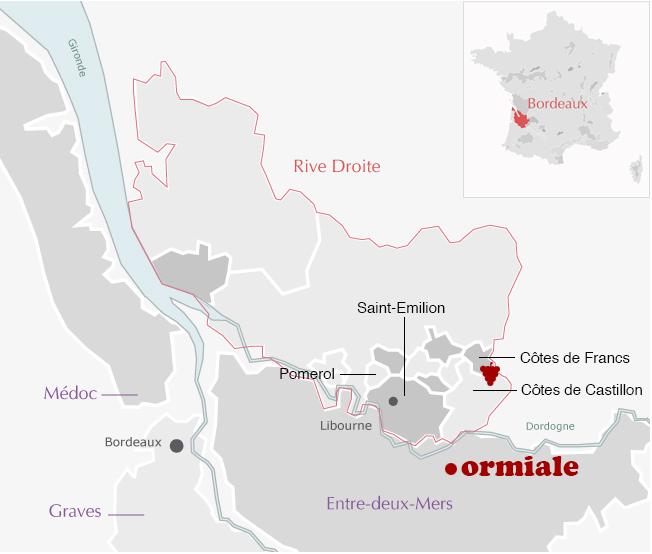 Carte Ormiale Bordeaux